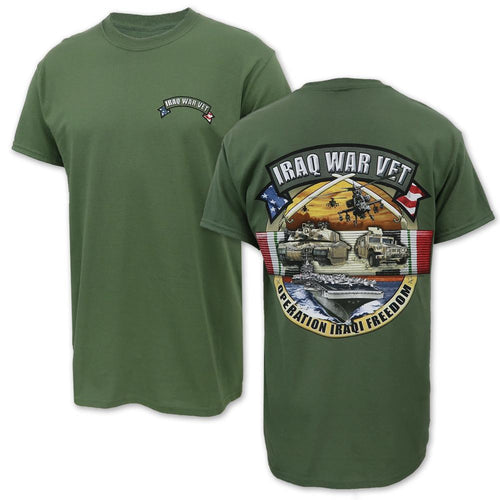 Iraqi War Veteran T-Shirt (OD Green)