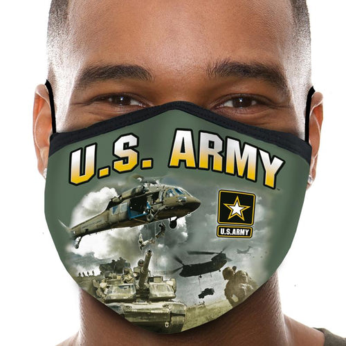 U.S. Army Action Face Mask (OD Green)-Single or 3 Pack