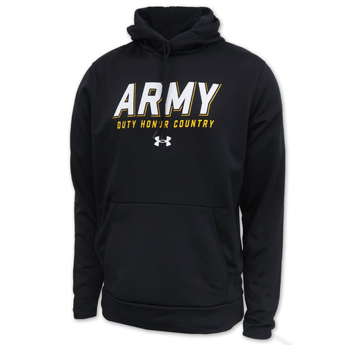 Army Under Armour 2C Duty Honor Country Armour Fleece Hood (Black)