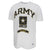 Army Under Armour Gameday Fade Short Sleeve T-Shirt (White)