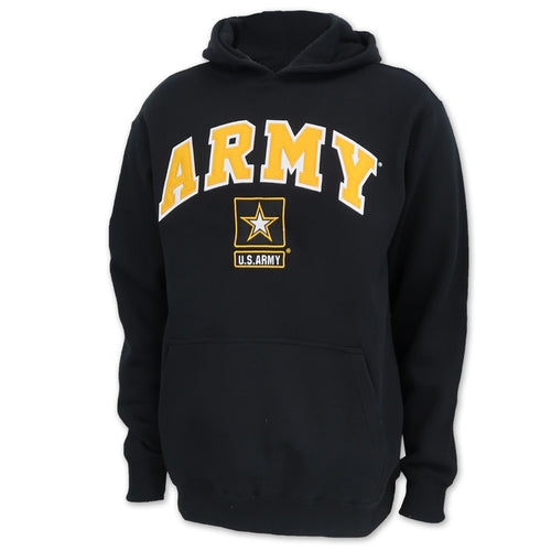 Army Star Tackle Twill Fleece Hood (Black)
