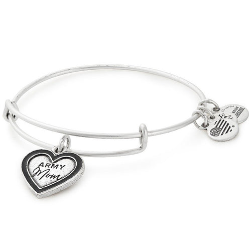 ALEX AND ANI ARMY MOM BANGLE (SILVER)