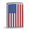 AMERICAN FLAG CHROME COLOR ZIPPO LIGHTER 1