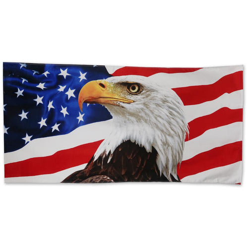 AMERICAN FLAG EAGLE BEACH TOWEL (30