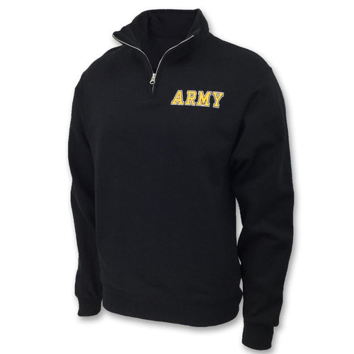ARMY 1/4 ZIP SWEATSHIRT (BLACK) 2