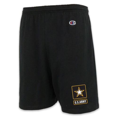 ARMY CHAMPION STAR LOGO COTTON SHORT (BLACK)