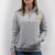 ARMY LADIES DAKOTA QUARTER ZIP PULLOVER (GREY) 3