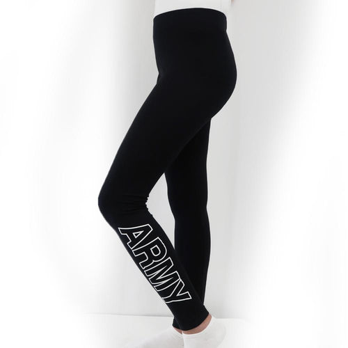 ARMY LADIES LOVE 'EM LONGER LEGGINGS (BLACK) 3