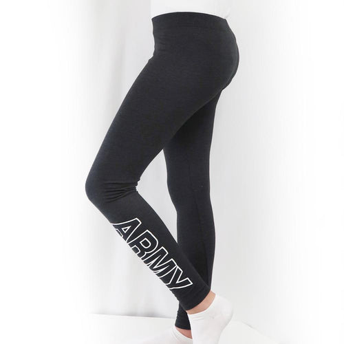 ARMY LADIES LOVE 'EM LONGER LEGGINGS (CHARCOAL) 3