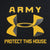 ARMY LADIES UNDER ARMOUR PROTECT THIS HOUSE TECH T-SHIRT (BLACK)