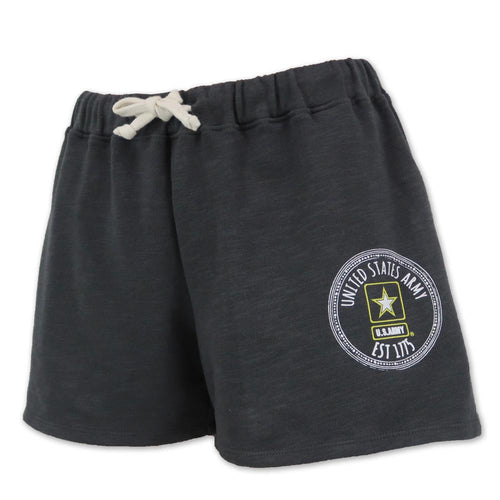 ARMY LADIES WEATHERED TERRY SHORT (WASHED GREY) 3