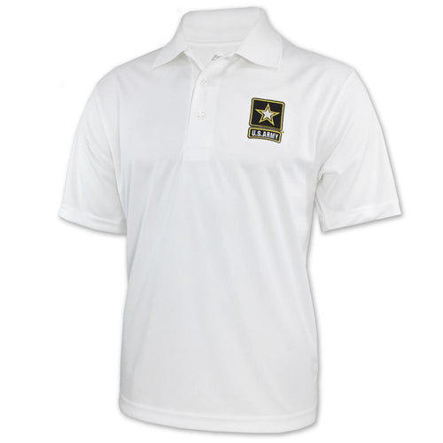 ARMY PERFORMANCE POLO (WHITE) 4