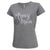 ARMY SEAL LADIES MOM SCRIPT V-NECK T-SHIRT (GREY) 1