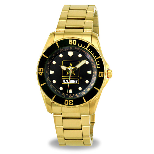 ARMY STAINLESS STEEL GOLD WATCH 2