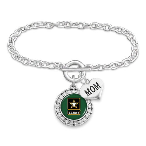 ARMY STAR CRYSTAL MOM BRACELET