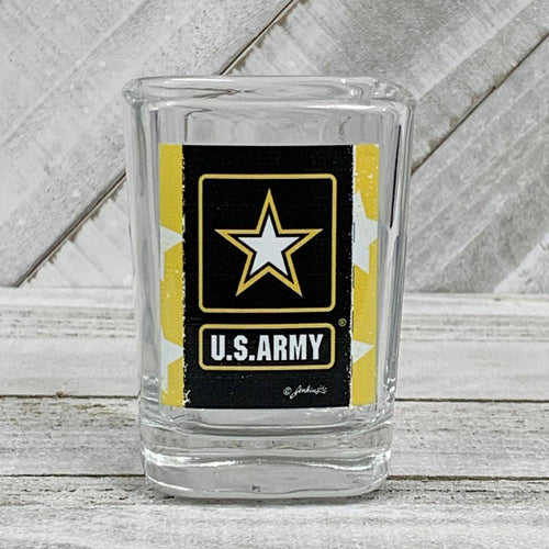 ARMY STAR DISTRESSED SHOT GLASS