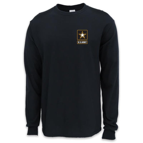 ARMY STAR LOGO LONG SLEEVE T-SHIRT (BLACK)