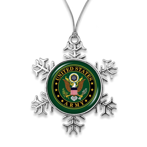 ARMY STAR SNOWFLAKE ORNAMENT 3