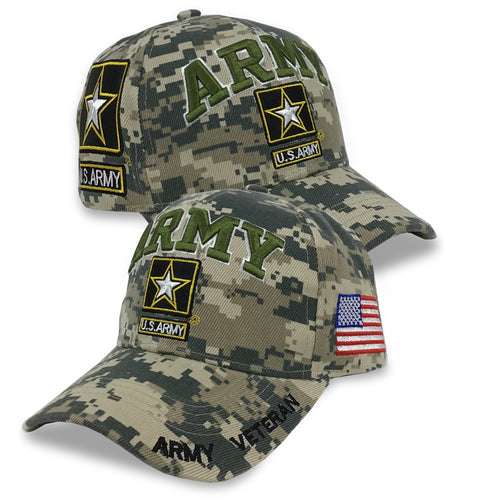 ARMY STAR VETERAN DIGITAL CAMO HAT (CAMO) 3