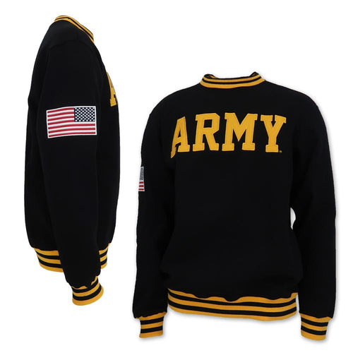 ARMY TACKLE TWILL FLEECE CREWNECK (BLACK) 1