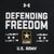 ARMY UNDER ARMOUR DEFENDING FREEDOM TECH T-SHIRT (BLACK) 2