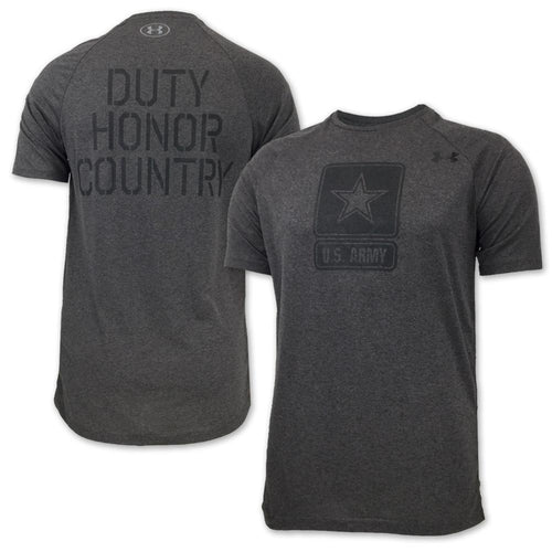 ARMY UNDER ARMOUR DUTY HONOR COUNTRY TECH T-SHIRT (CHARCOAL) 4
