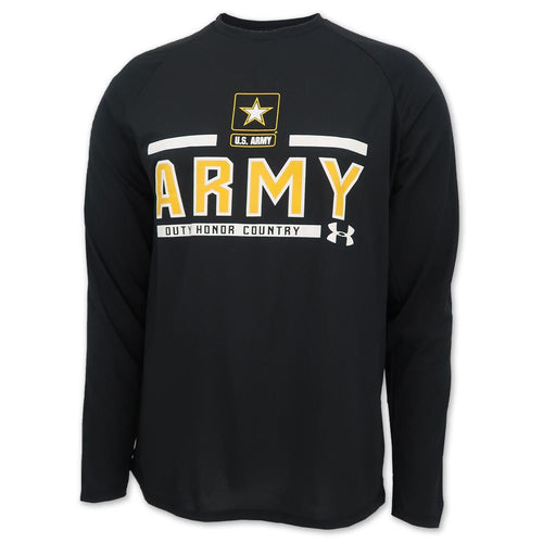 ARMY UNDER ARMOUR STAR LOGO LONG SLEEVE T-SHIRT (BLACK) 1