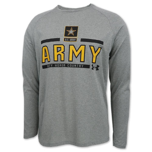 ARMY UNDER ARMOUR STAR LOGO LONG SLEEVE T-SHIRT (GREY) 1