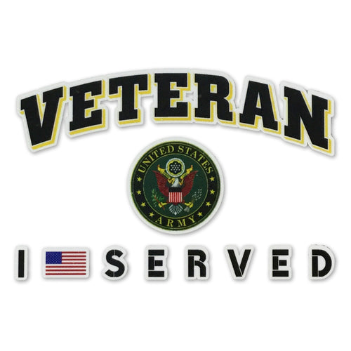 ARMY VETERAN I SERVED DECAL 1