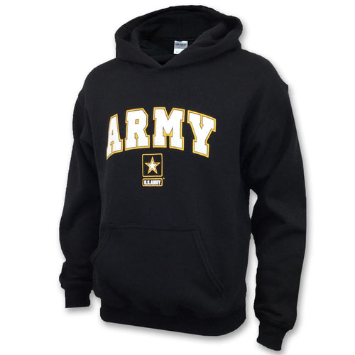 ARMY YOUTH ARCH STAR HOOD (BLACK) 2
