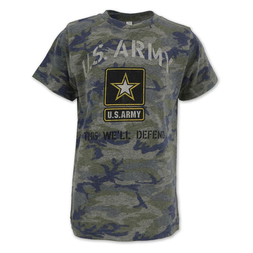 ARMY YOUTH VINTAGE STENCIL T-SHIRT (CAMO) 1