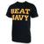 BEAT NAVY T-SHIRT (BLACK/GOLD)