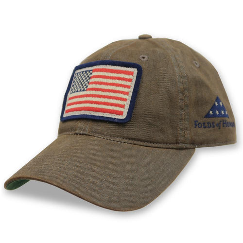 FOLDS OF HONOR USA FLAG OLD FAVORITE HAT (GREY) 3