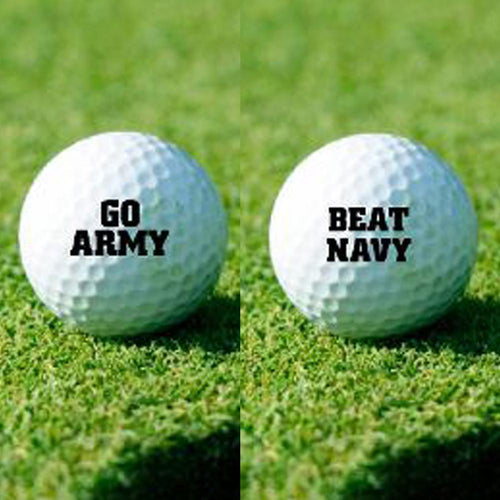 GO ARMY BEAT NAVY GOLF BALL