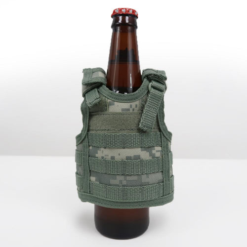 MINI TACTICAL VEST BOTTLE KOOZIE (ACU)
