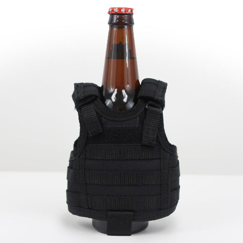 MINI TACTICAL VEST BOTTLE KOOZIE (BLACK)