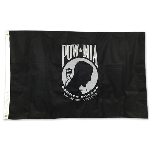 POW MIA 2 SIDED EMBROIDERED FLAG (3'X5) 2