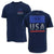 UNDER ARMOUR FREEDOM FIERCE COMPETITOR T-SHIRT (NAVY) 3