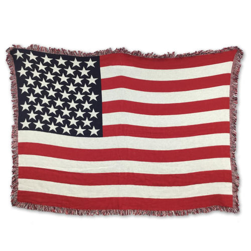 USA FLAG WOVEN KNIT BLANKET (50