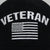 VETERAN FLAG HAT (BLACK)