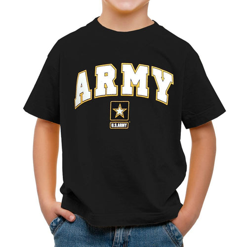 ARMY YOUTH ARCH STAR T-SHIRT (BLACK) 2