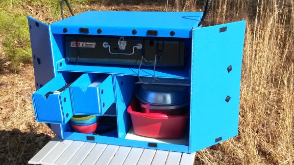 Blue Camping Kitchen Box