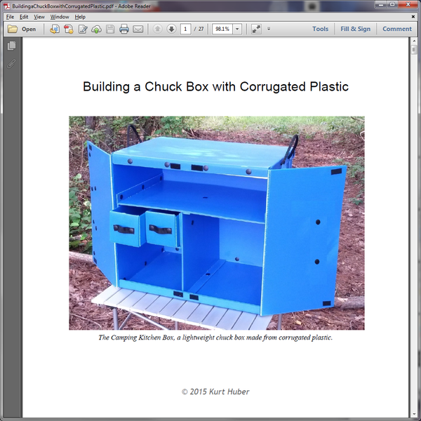 How to Build a Chuck Box with Corrugated Plastic