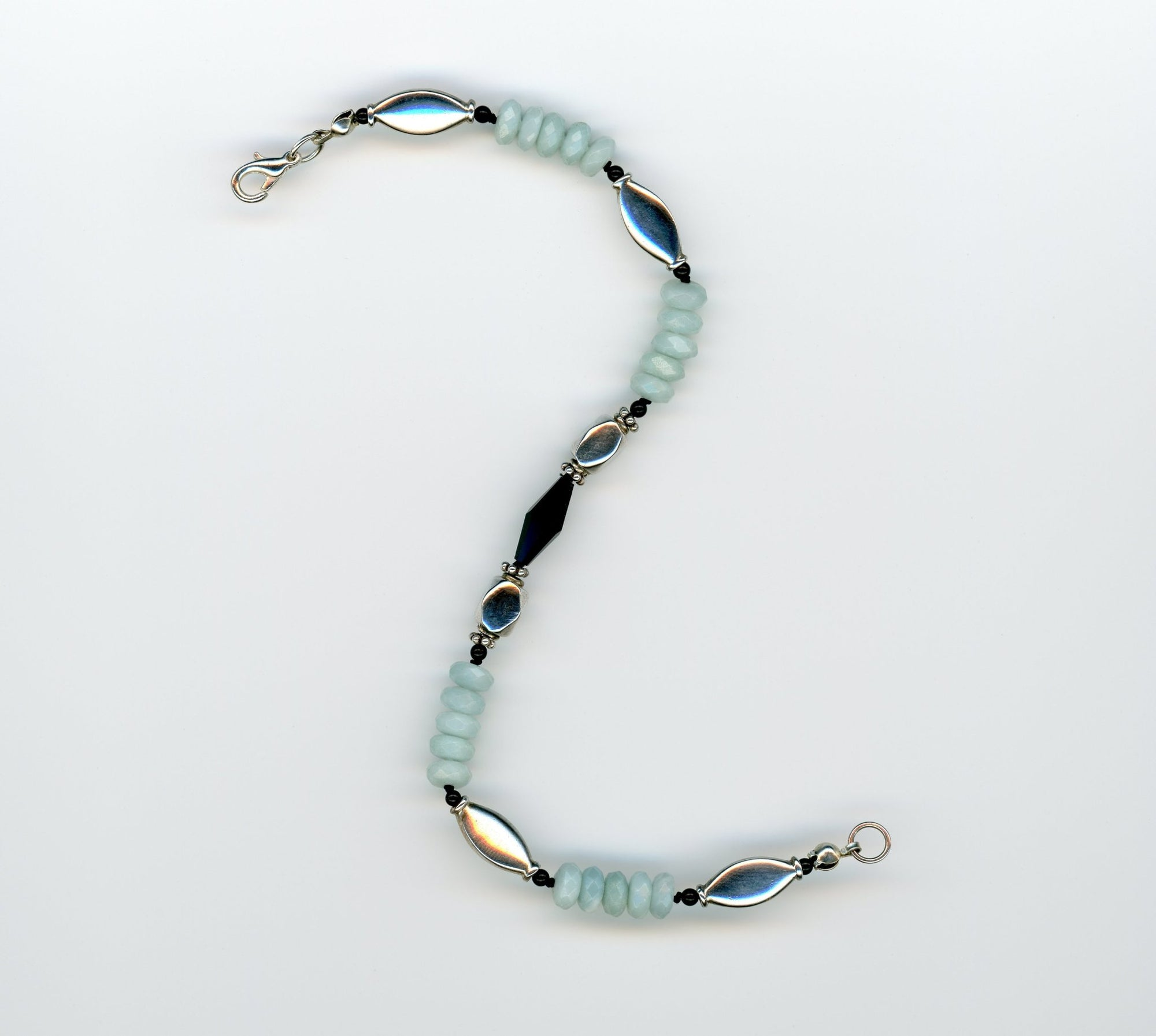Amazonite and Black Onyx Bracelet - UniqueCherie