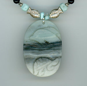 Amazonite Dolphin Necklace - UniqueCherie