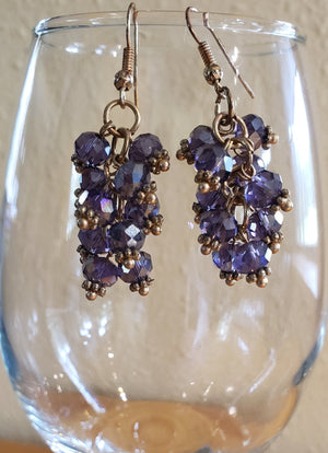 Cluster of Grapes Earrings - UniqueCherie