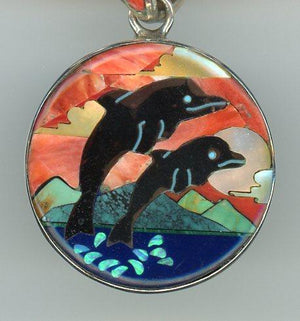 Double Dolphin Necklace - UniqueCherie