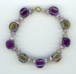Duplex Lavender and Jade Bracelet - UniqueCherie