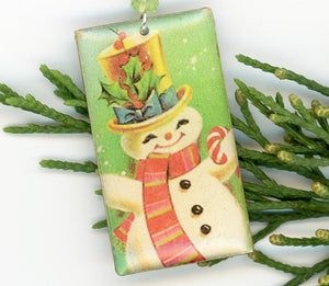 Happy Snowman Earrings - UniqueCherie