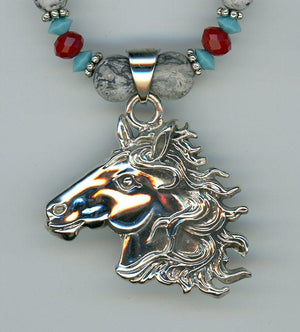 Jasper Horse Necklace - UniqueCherie